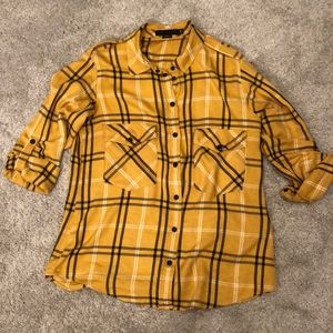Sanctuary Boyfriend shirt size small black & gold